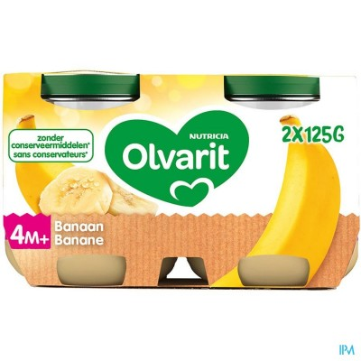 OLVARIT BANAAN 2X125G 4M06