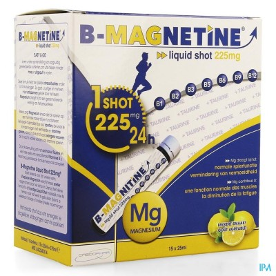 B-MAGNETINE LIQUID SHOT 225MG 15X25ML CREDOPHAR