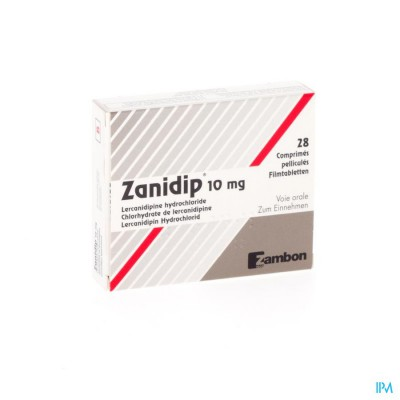 ZANIDIP COMP 28 X 10 MG