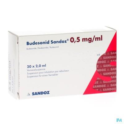 Budesonid Sandoz 0,5mg/ml Vernevelsusp 4x5 Amp