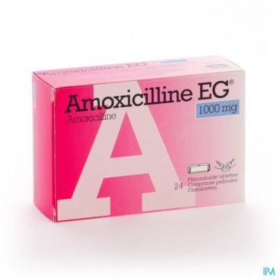Amoxicilline Eg 1000mg Filmomh Tabl 24 X 1000mg