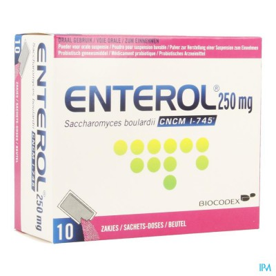 ENTEROL 250 MG PULV SACH 10