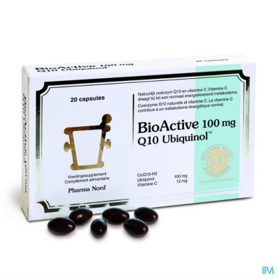 BIO ACTIVE Q10 100MG CAPS 20