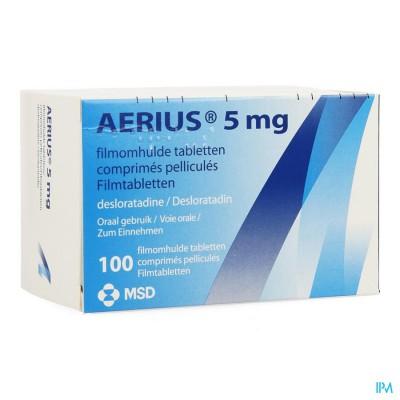AERIUS 5 MG FILMOMH COMP 100 X 5 MG