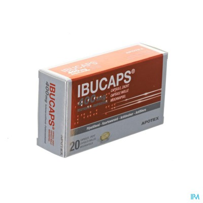 IBUCAPS 400MG APOTEX CAPS ZACHT 20