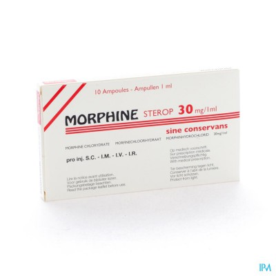 MORPHINE HCL AMP 10 X 30MG/1ML