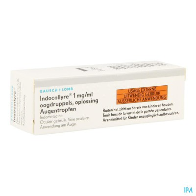 INDOCOLLYRE SOL OPHT 1 X 5 ML 0,1%