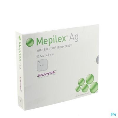 MEPILEX AG VERBAND STERIEL 12,5X12,5CM 5 287121