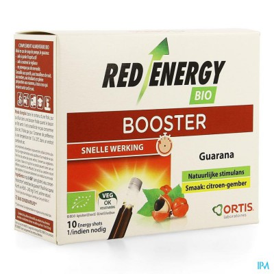 ORTIS RED ENERGY CITROEN GEMBER BIO Z/ALC 10X15ML
