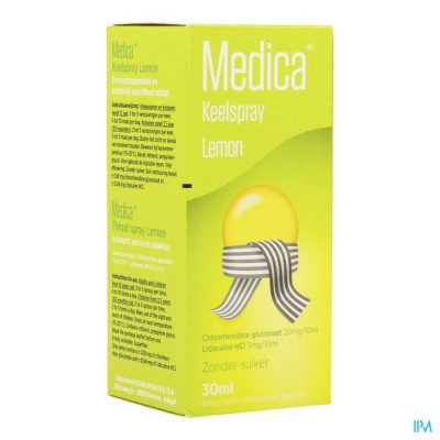 MEDICA KEELSPRAY LEMON 30ML