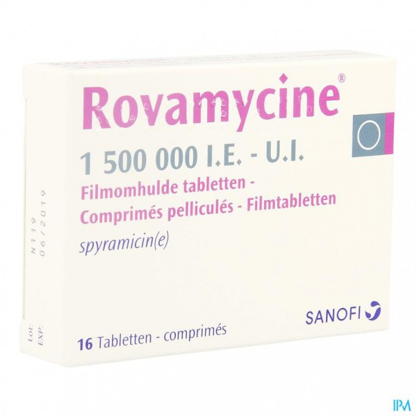 ROVAMYCINE COMP 16 X 1.500.000 I.U/I.E