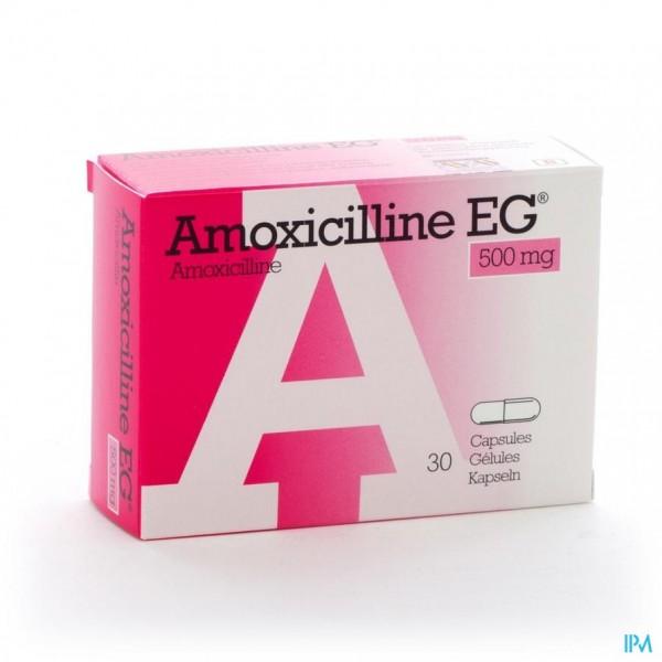 AMOXICILLINE EG CAPS 30 X 500 MG