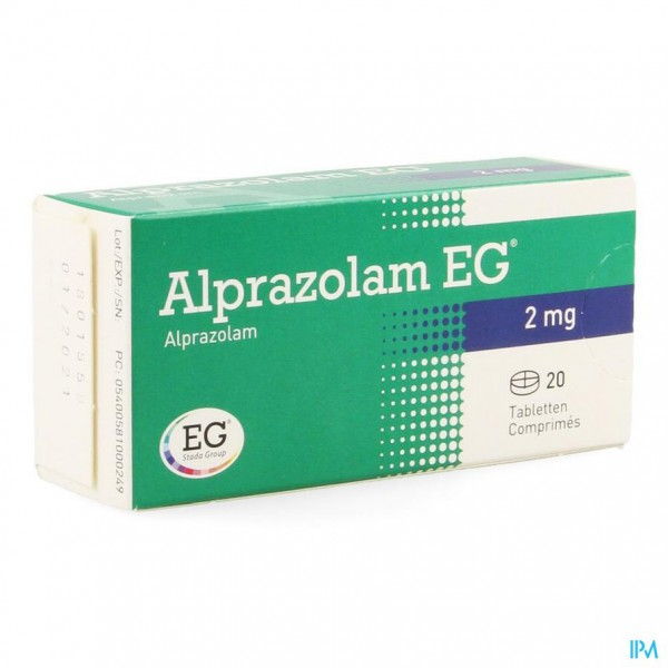 ALPRAZOLAM EG COMP 20 X 2,00MG