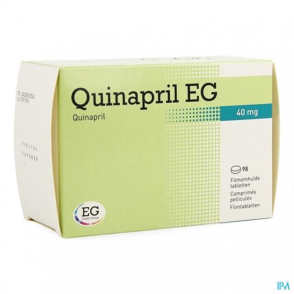 QUINAPRIL EG 40 MG COMP 98 X 40 MG