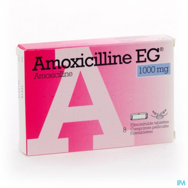 AMOXICILLINE EG COMP 8 X 1 G