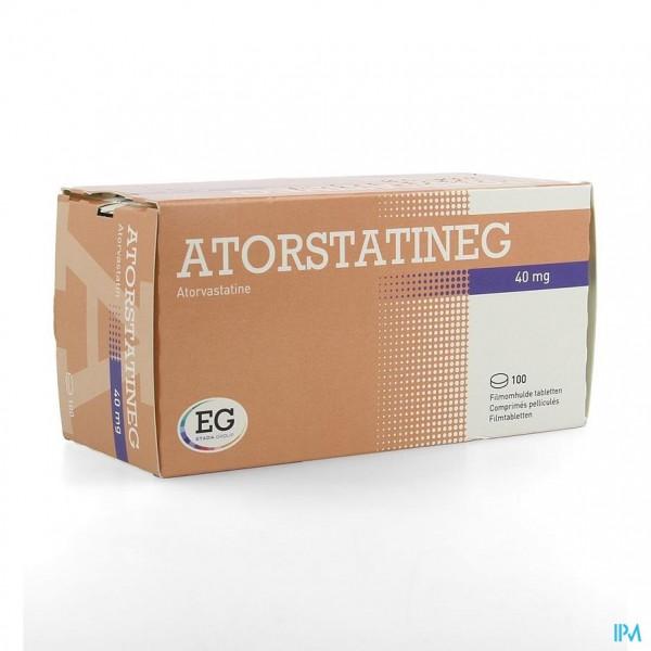 ATORVASTATINE EUROGENERICS 40MG FILMOMH TABL 100