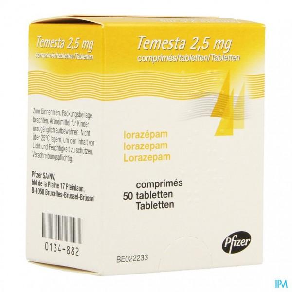 TEMESTA COMP. 50 X 2,5 MG