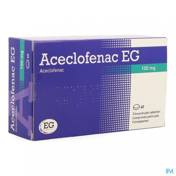 ACECLOFENAC EG 100MG FILMOMH.TABL 60X100MG