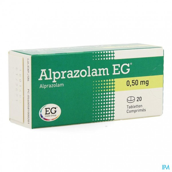ALPRAZOLAM EG COMP 20 X 0,50MG