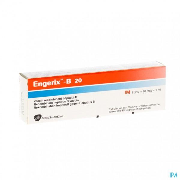 ENGERIX B 20 SER IM 1 ML