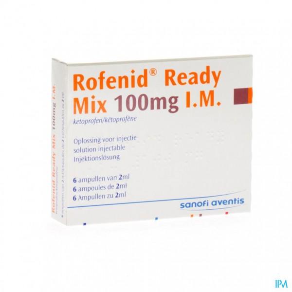 ROFENID READY MIX AMP 6 X 100MG/2ML