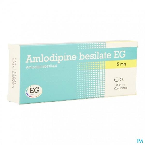 AMLODIPINE BESILATE EG COMP 28 X 5 MG