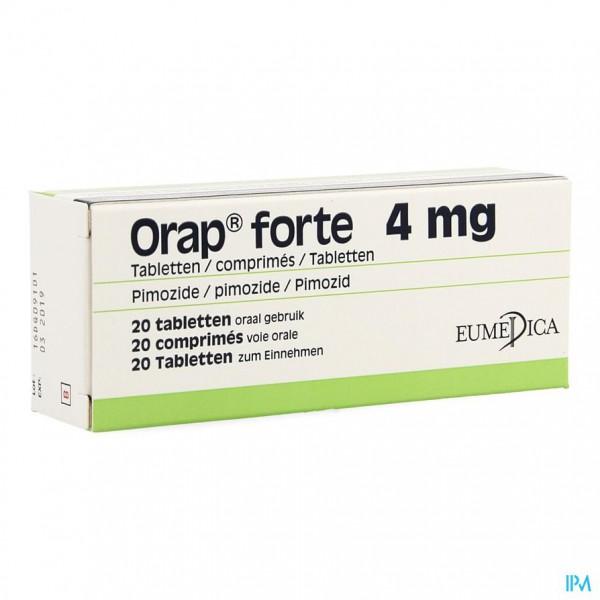 ORAP FORTE COMP 20 X 4 MG