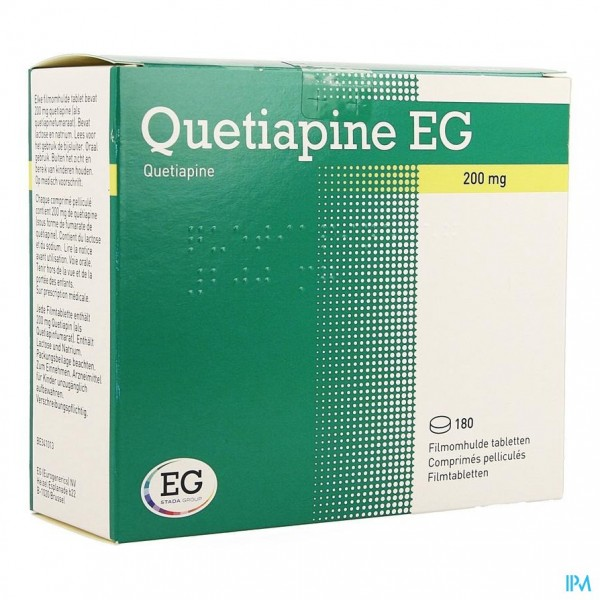 QUETIAPINE EG COMP PELL 180 X 200 MG