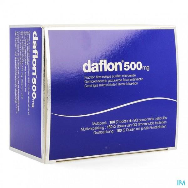 DAFLON 500 FILMOMH TABL 180 X 500MG