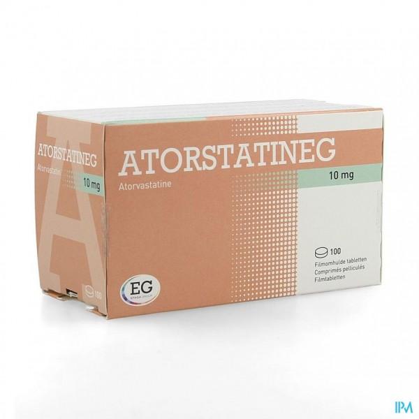 ATORVASTATINE EUROGENERICS 10MG FILMOMH TABL 100