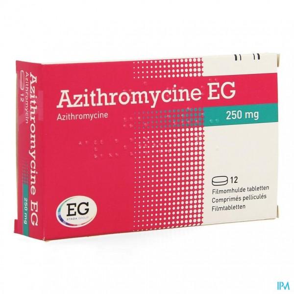 AZITHROMYCINE 250 MG EG TABL OMHULDE 12X250 MG