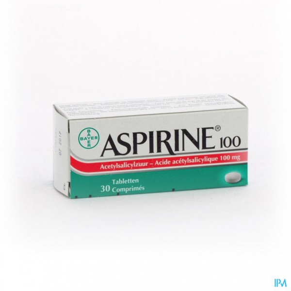 ASPIRINE 100 MG COMP 30