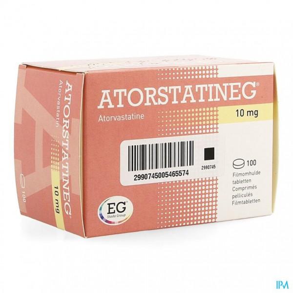 ATORSTATINEG 10 MG FILMOMH TABL 100