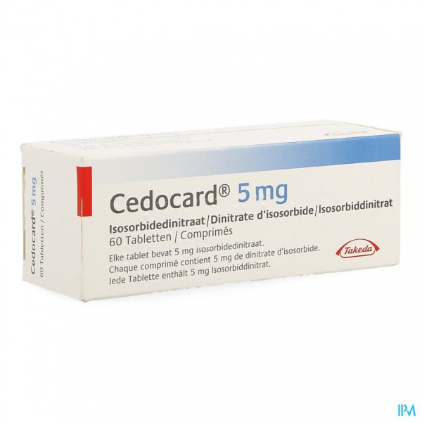 CEDOCARD COMP SUBLING 60 X 5 MG
