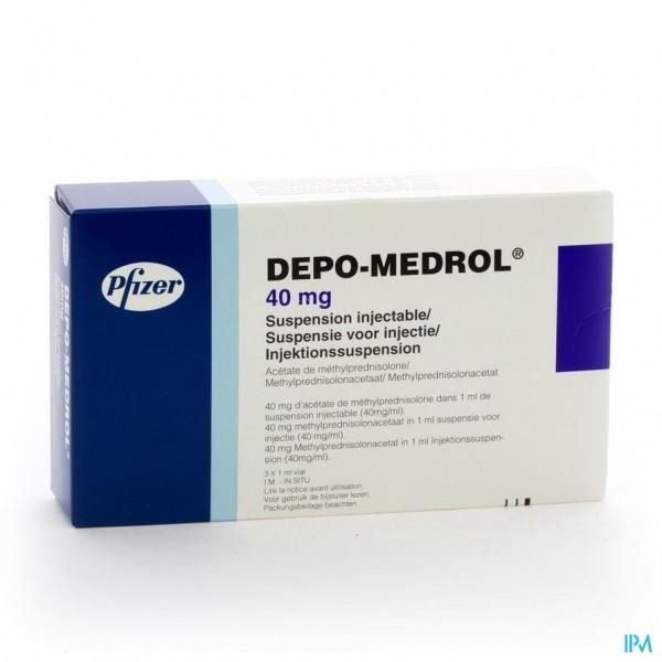 DEPO-MEDROL VIAL 3 X 40 MG/1 ML
