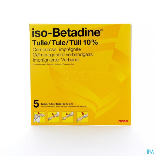 ISO BETADINE TULLES COMPR 5 10X10