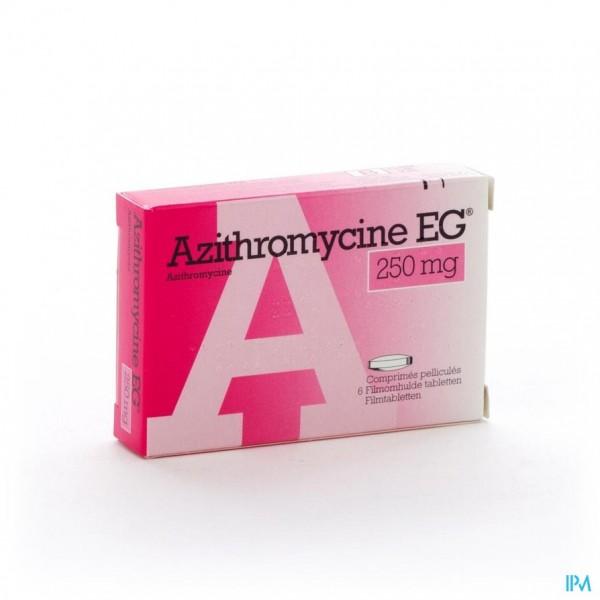 AZITHROMYCINE 250 MG EG TABL OMHULDE 6X250 MG
