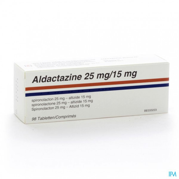 ALDACTAZINE COMP 98 X 25 MG/15 MG