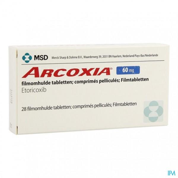 ARCOXIA 60 MG COMP 28