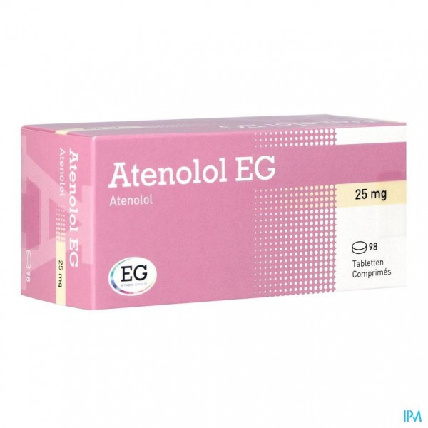 ATENOLOL EG COMP 98 X 25 MG