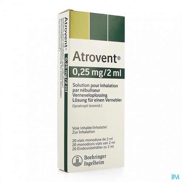 ATROVENT MONODOSE 0,25MG/2ML VIALS 20
