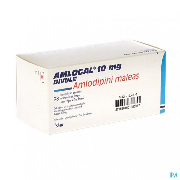 AMLOGAL DIVULE 10 MG COMP ENROB 98 X 10 MG