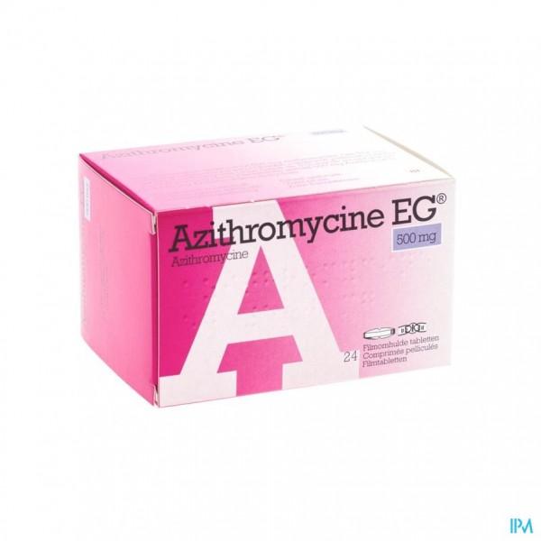 AZITHROMYCINE 500 MG EG TABL OMHULDE 24X500 MG