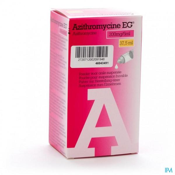 AZITHROMYCINE 200MG/5ML EG POEDER OR SUSP 37,5 ML