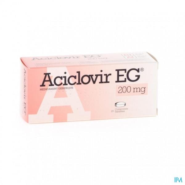 ACICLOVIR EG 200 COMP 25 X 200 MG | Apotheek Thiels
