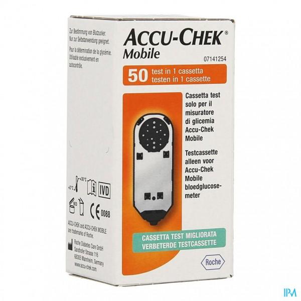 ACCU CHEK MOBILE TEST CASSETTE 50 TESTS 7141254171