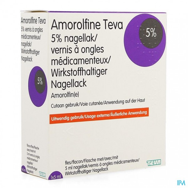 AMOROLFINE TEVA MEDISCHE NAGELLAK 1 X 5 ML
