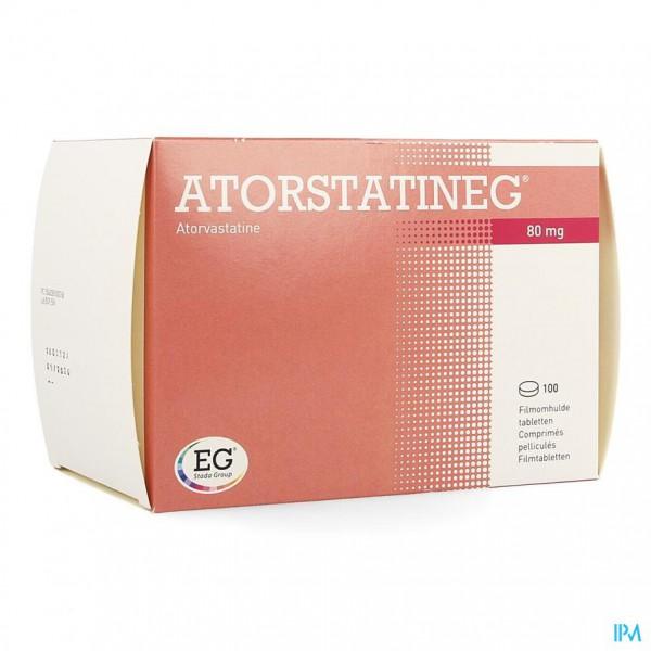 ATORSTATINEG 80 MG FILMOMH TABL 100