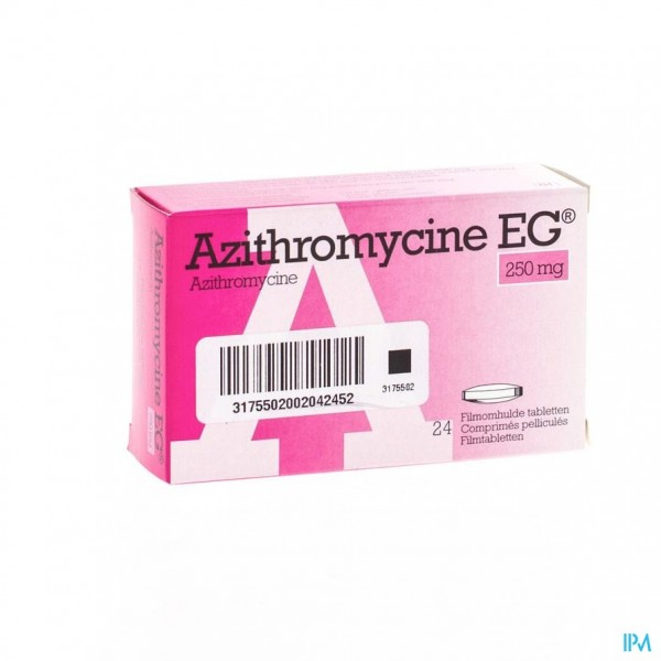 AZITHROMYCINE 250 MG EG TABL OMHULDE 24X250 MG
