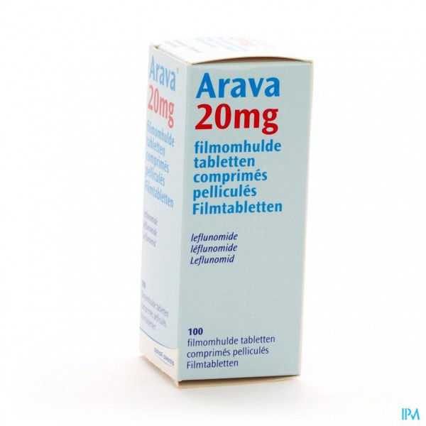 ARAVA 20 MG COMP PELL 100 X 20 MG